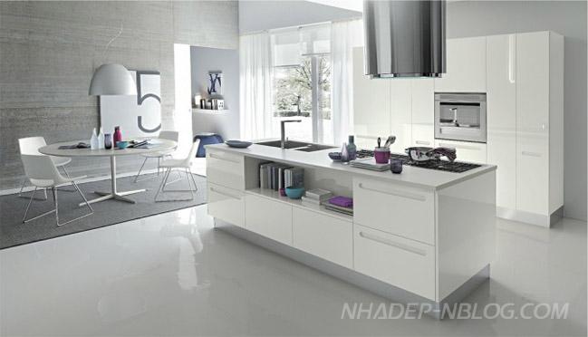 Nhà bếp đẹp cho không gian mở