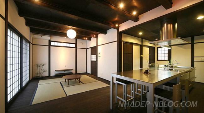 Thiết kế nhà bếp đẹp phong cách Nhật Bản