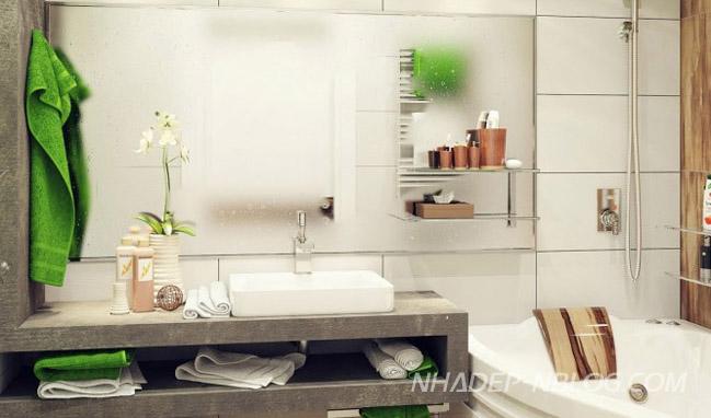 Phòng tắm đẹp cho không gian nhỏ