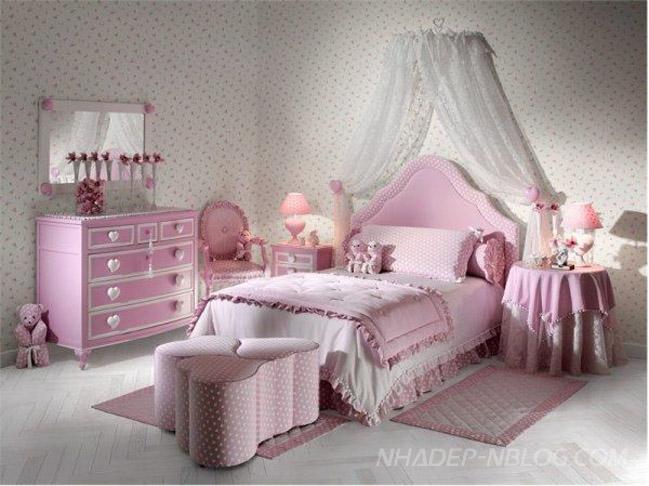 Nội thất phòng ngủ đẹp hình trái tim cho tuổi teen