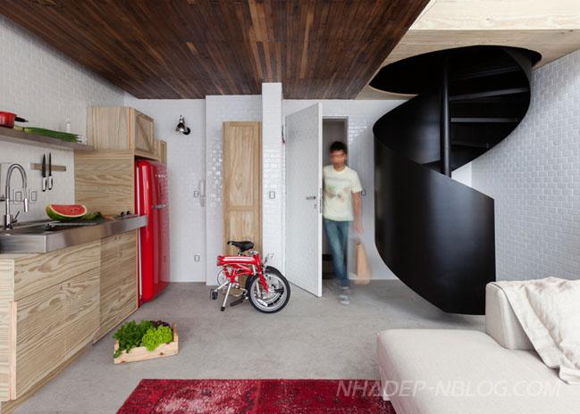 Ngắm căn hộ nhỏ với thiết kế ấn tượng đầy màu sắc