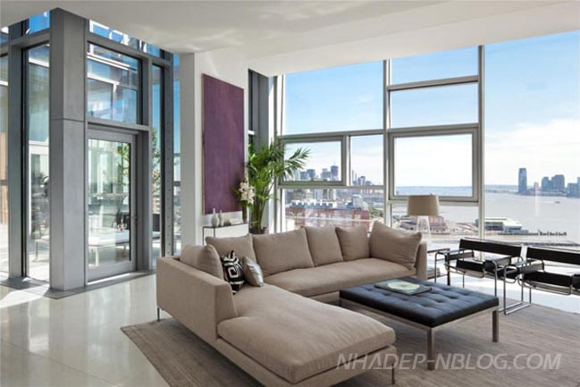 Ng m c n h penthouse sang tr ng v i t m nh n 360 for Dep design interieur