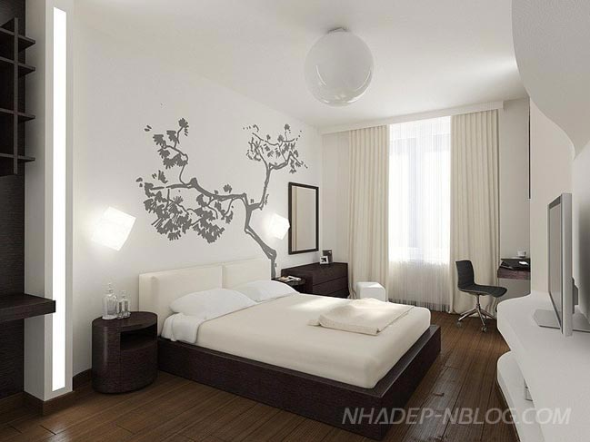 Ngắm căn hộ với thiết kế hiện đại sang trọng với 2 màu trắng và nâu