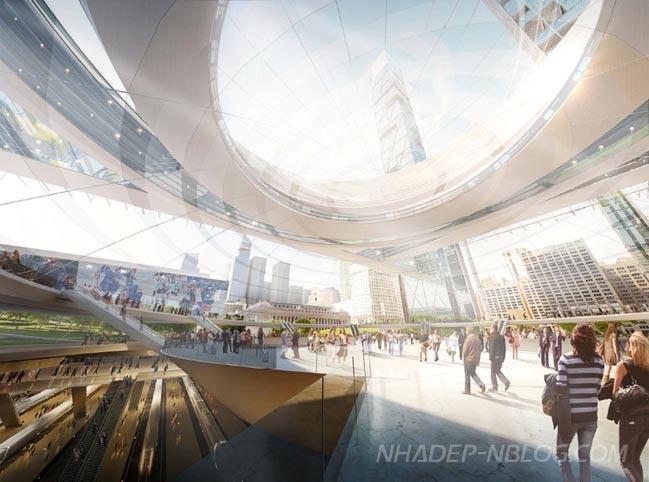 Thiết kế kiến trúc ấn tượng của nhà ga Penn