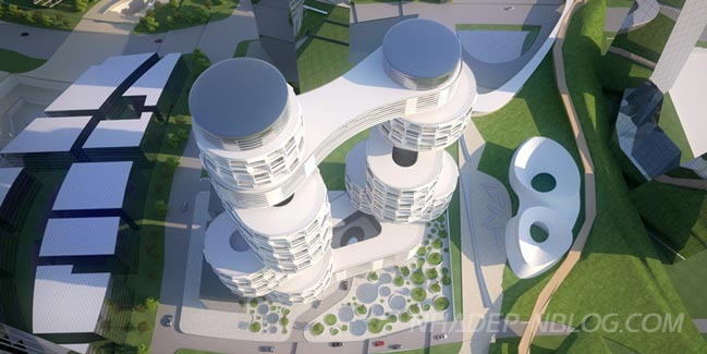 Ngắm kiến trúc ấn tượng của tòa tháp đôi Velo