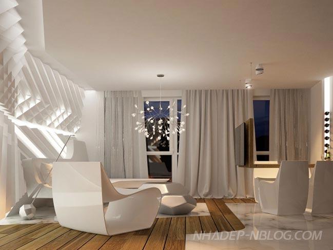 Nhà đẹp với thiết kế hiện đại tinh tế