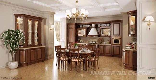 Nội thất nhà bếp cổ điển sang trọng