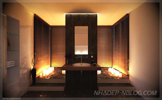Mẫu nội thất phòng tắm đẹp hiện đại sang trọng