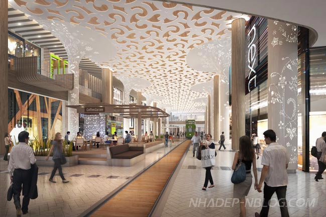 Kiến trúc dự án Thung lũng Rồng tại trung tâm thương mại Yongsan
