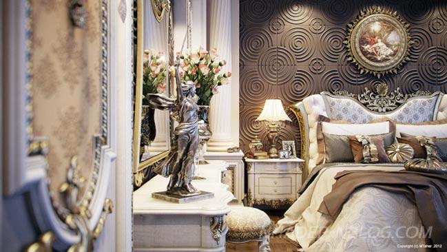 Ngắm nội thất phòng ngủ sang trọng tại Trung Đông