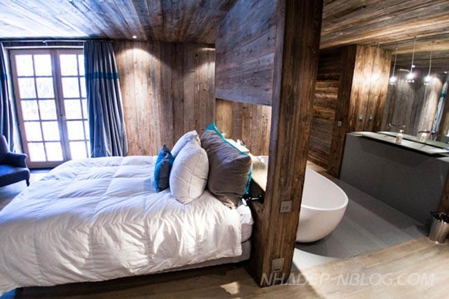 Thiết kế nội thất phòng ngủ đẹp bằng gỗ