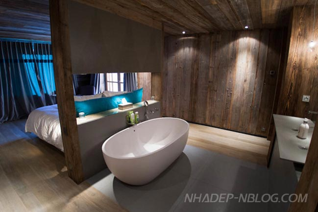 Nội thất phòng ngủ đẹp bằng gỗ phong cách hiện đại