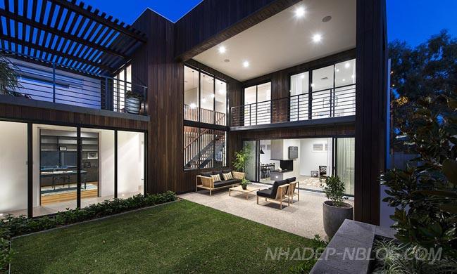 Mẫu nhà đẹp 2 tầng không gian mở với sân vườn tuyệt đẹp