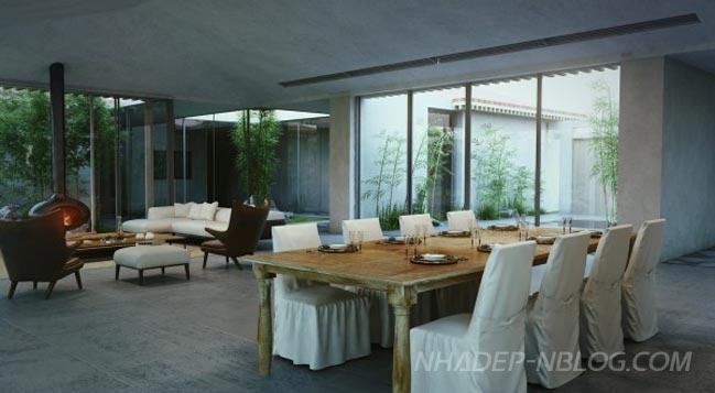 Mẫu nhà đẹp 1 tầng với phong cách hiện đại