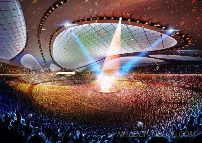 Kiến trúc sân vận động Quốc gia mới chuẩn bị cho Olympic 2020