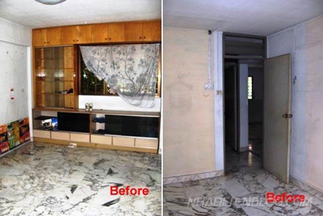 Nhà đẹp cấp 4 trước và sau khi sửa chữa