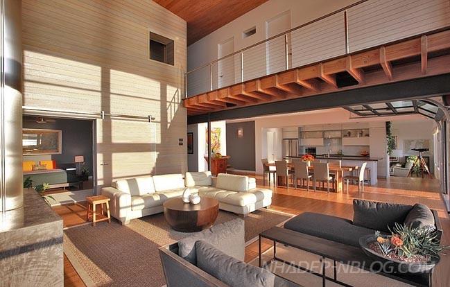 Ngắm nhà biệt thự đẹp trên sườn đồi với nội thất gỗ