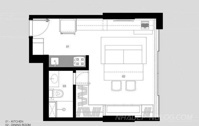 Mẫu nhà đẹp diện tích nhỏ 30 mét vuông