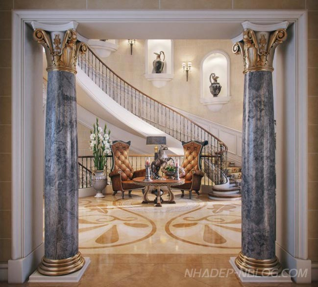 Mẫu nhà đẹp sang trọng với phong cách cổ điển