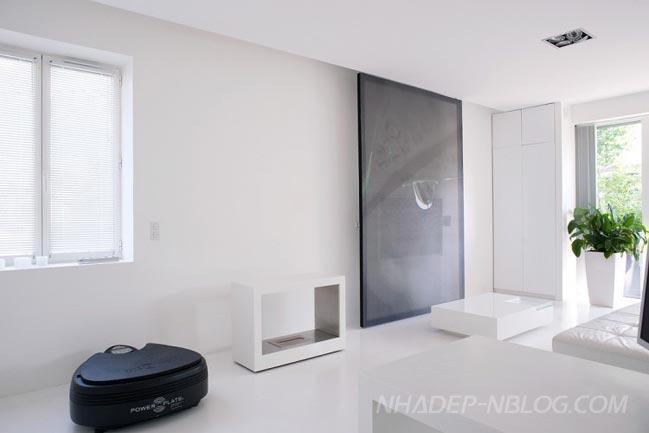 Ngắm nhà đẹp với màu trắng tinh khôi
