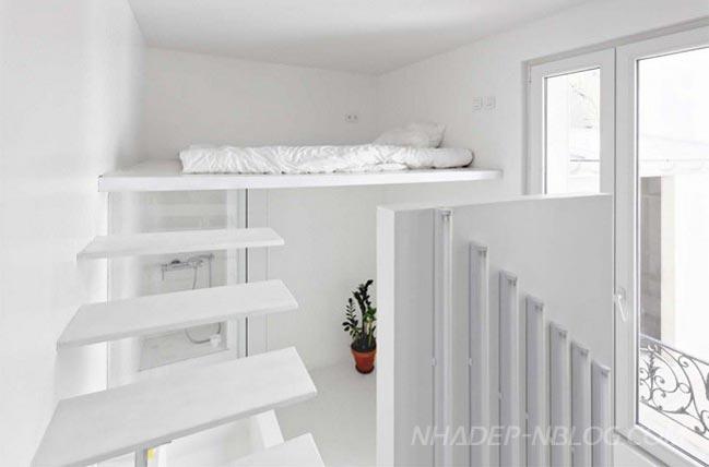 Mẫu nhà nhỏ đẹp với màu trắng tươi sáng