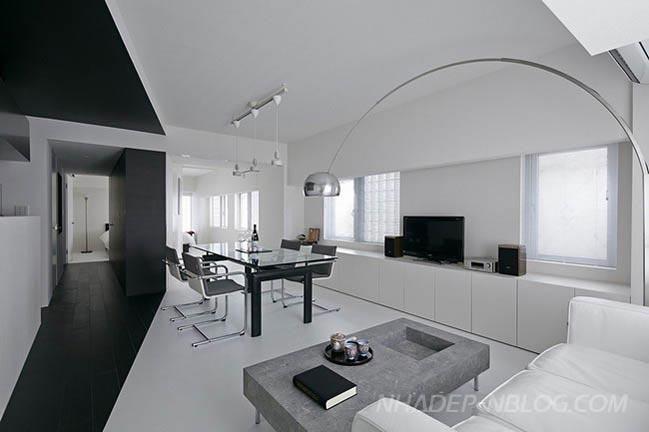 Mẫu thiết kế nhà đẹp với 2 màu trắng đen sang trọng