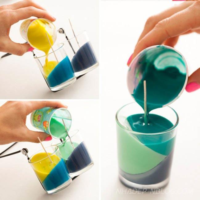 Tự tay làm ly đèn cày xinh xắn đầy màu sắc
