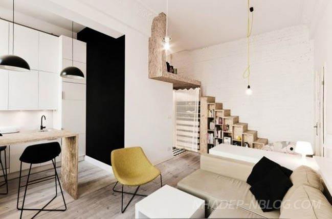 Thiết kế nhà đẹp nhỏ 29 mét vuông ấn tượng
