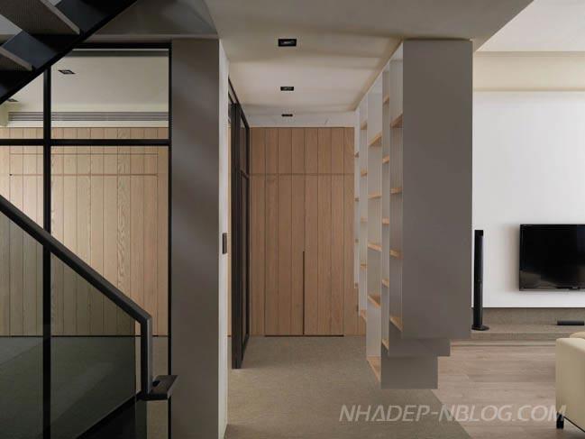 Mẫu nhà phố đẹp 2 tầng với thiết kế hiện đại