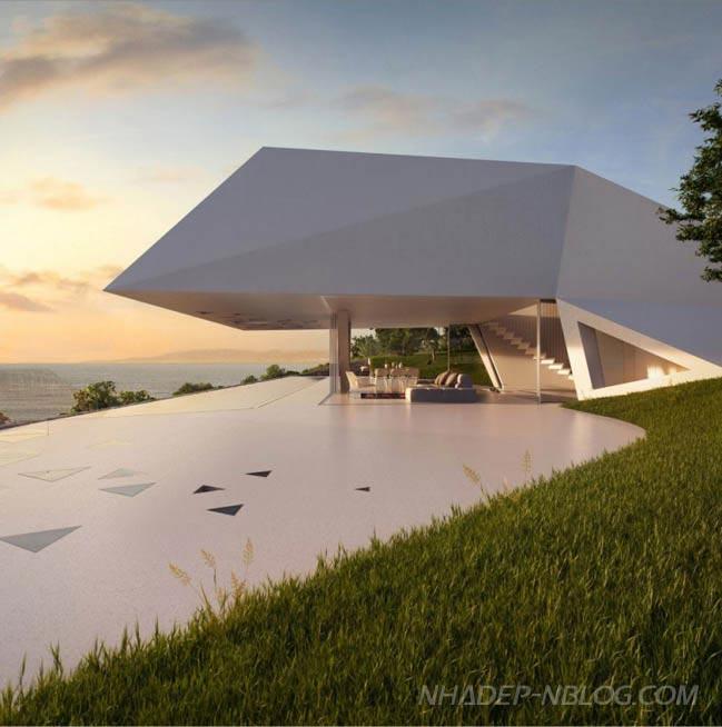 Mẫu nhà đẹp cạnh bở biển với thiết kế độc đáo