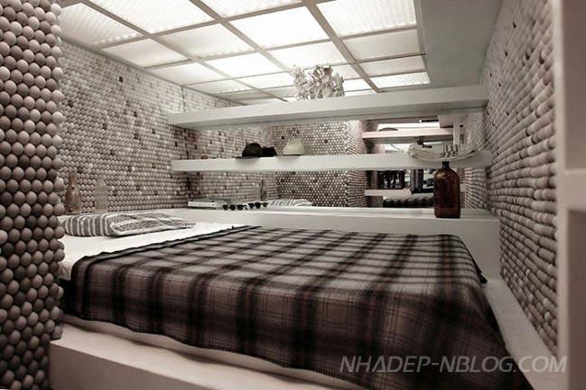 Nội thất phòng ngủ đẹp được trang trí bởi banh bóng bàn độc đáo