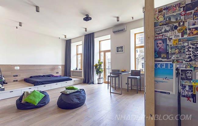 Ngắm căn hộ chung cư đẹp với thiết kế không gian mở