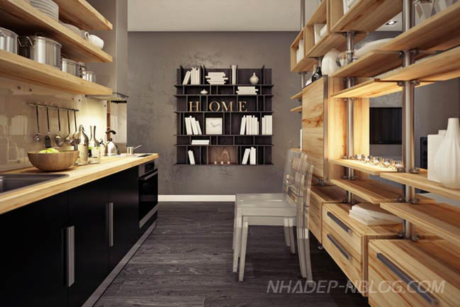 Nhà nhỏ đẹp với nội thất không gian mở thông minh
