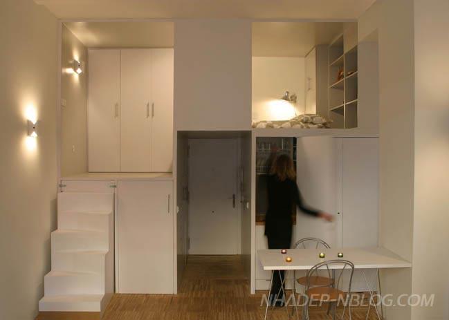 Nội thất nhà nhỏ đẹp với thiết kế thông minh