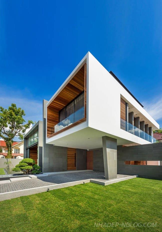 Ngắm không gian đẹp hiện đại của ngôi biệt thự tại Singapore