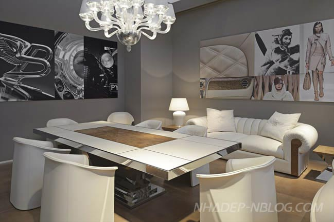 Nhà đẹp với nội thất sang trọng của siêu xe Bentley
