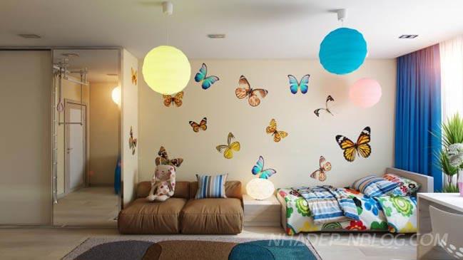 Không gian nội thất phòng ngủ đẹp cho bé