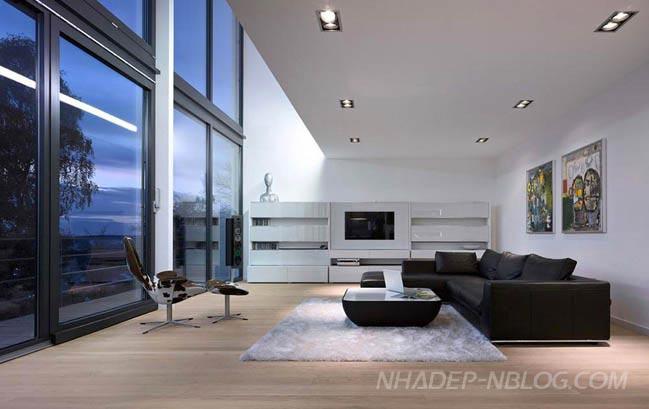 Biệt thự đẹp với ngoại thất tường kính độc đáo