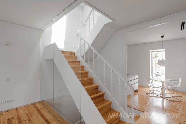 Mẫu nhà cấp 4 đẹp 2 tầng với nội thất trắng sang trọng