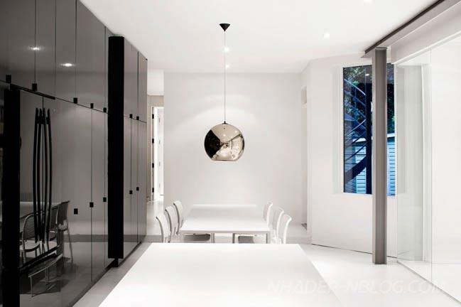 Mẫu nhà đẹp với nội thất trắng đen sang trọng