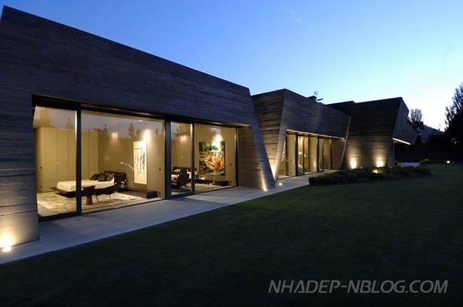 Mẫu biệt thự siêu hiện đại với kiến trúc độc đáo