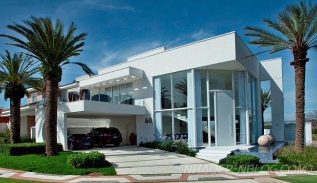 Mẫu biệt thự đẹp hiện đại sang trọng tại Brazil