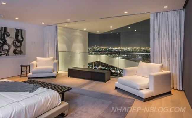 Mẫu nhà đẹp với cảnh quang thành phố Los Angeles
