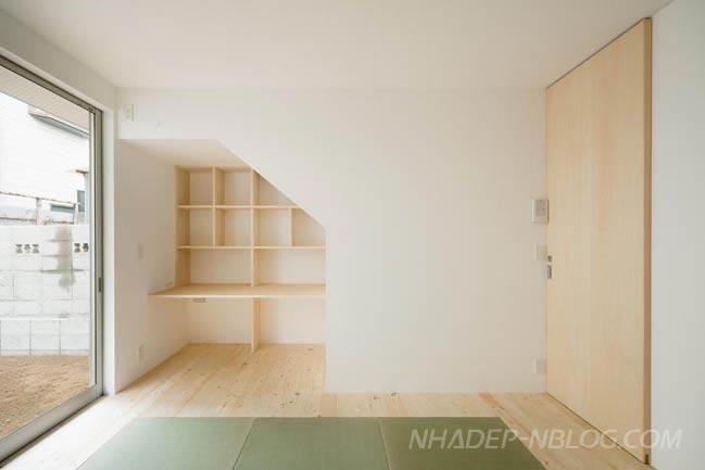 Nhà phố đẹp 3 tầng với nội thất gỗ