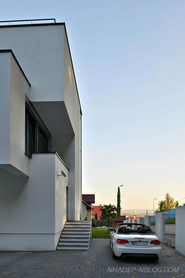 Mẫu nhà đẹp với thiết kế hình khối hiện đại