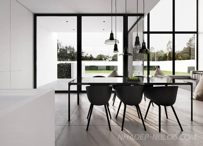 Ngắm mẫu nhà đẹp đen trắng hiện đại