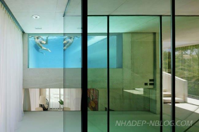 Ngôi biệt thự đẹp với hồ bơi bằng kính độc đáo