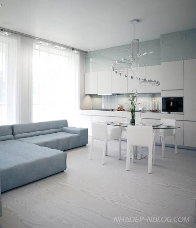 Mẫu nhà đẹp với gam màu trắng nhẹ nhàng