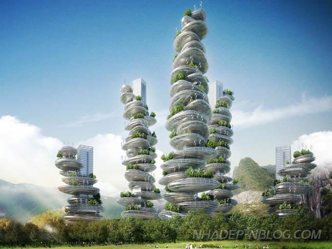 Ngắm dự án chung cư với kiến trúc hình núi đá