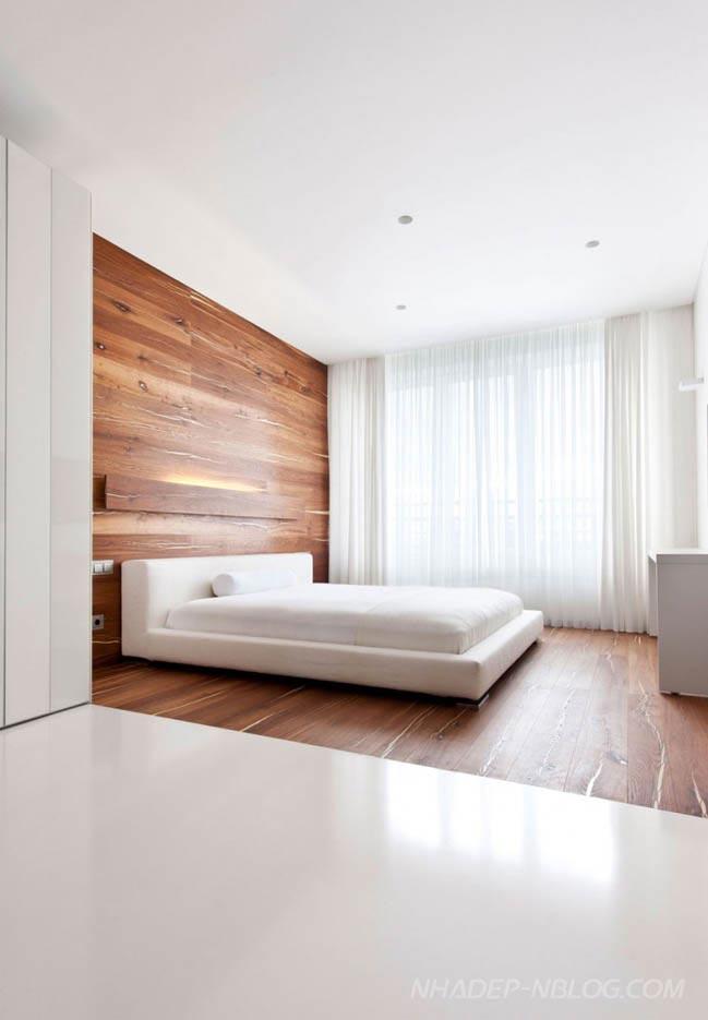 Căn hộ chung cư đẹp hiện đại với màu trắng chủ đạo
